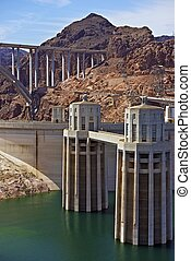 Hoover Dam Nevada - Hoover Dam in Nevada, USA. Bypass Bridge...