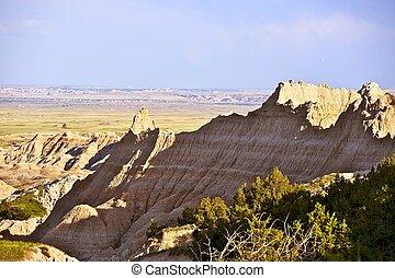 Badlands Raw Landscape