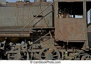 Corroded Locomotive - Corroded Small Steam Vintage...