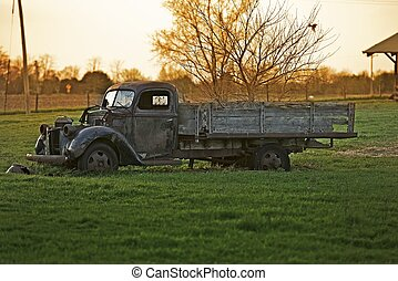 Rustic Old Truck - Rustic Old Pickup Truck on the Backyard....