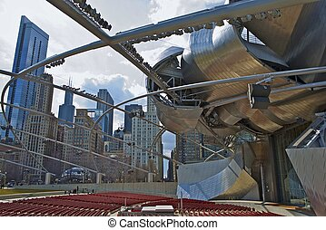 Jay Pritzker Pavilion in Chicago Millennium Park - Chicago...