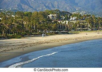 Santa Barbara, CA - Oceanside Santa Barbara Pacific Ocean...