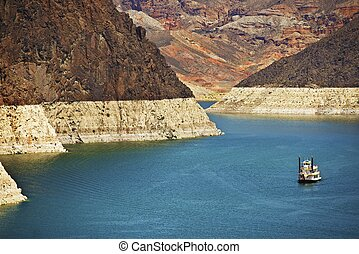 Lake Mead Nevada USA (Man Made Lake) Near Hoover Dam and...