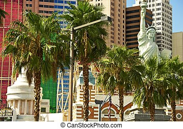 Vegas Strip in Day Time Las Vegas, Nevada, USA American...