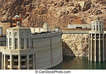 Hoover Dam Nevada - Dam Elements Closeup. Nevada-Arizona...