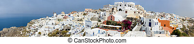 Oia Village - More than 180 degrees panorama of Oia village...