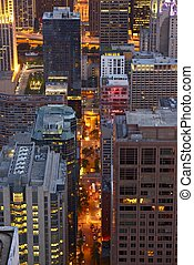 City Night Life Chicago - City Night Life in Chicago. City...