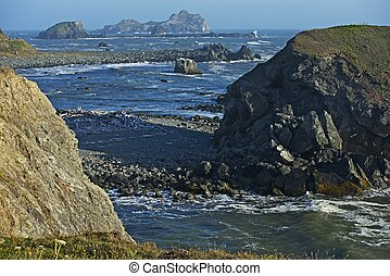 Pacific Northwest Shore. Northern California Pacific Rocky...