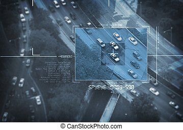 Spy Satellite Digital Bird Eye View - Search For Suspicious...