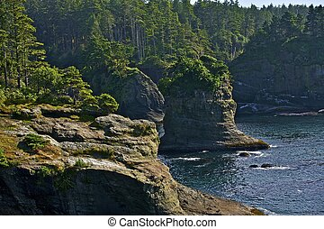 Pacific Shore Cliffs - Northwest Pacific Shore Cliffs -...