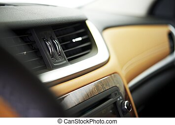 Car Vents - Car Interior - Car Vents Closeup. Vehicle...