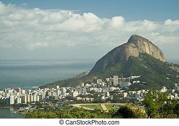 Rio de Janeiro\'s unique landscape mixing city, mountains,...