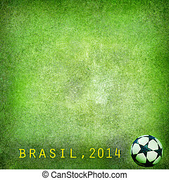 Grunge green soccer background - Grunge green background...