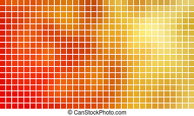 Red and yellow mosaic background.