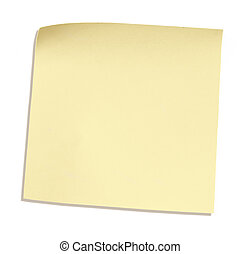 reminder paper - postit isolated over white