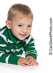 Smiling toddler boy - A portrait of a smiling toddler boy on...
