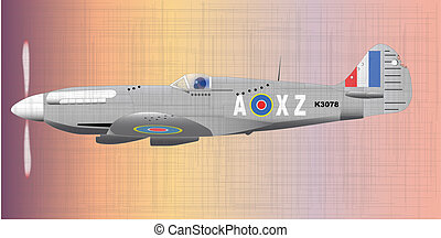 Fighter - A Supermarine World War II Spitfire Mark XIV...
