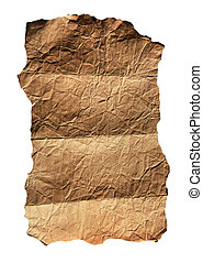 Old parchment - Old folded parchment for background isolated...