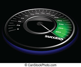 Vector speedometer - Vector illustration of a speedometer...