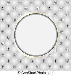 Luxury background with diamond buttons vector illustration