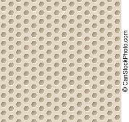 Hexagon seamless pattern with 3d effect