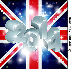 2014 Union Jack Flag - Union Jack flag of United Kingdom...