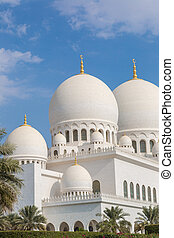 Sheikh Zayed Mosque in Middle East United Arab Emirates with...