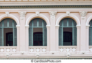 French colonial architecture - Central Post Office, Saigon,