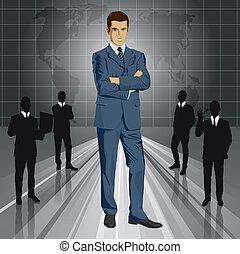 Vector Businessman In Suit - Vector business man in suit...