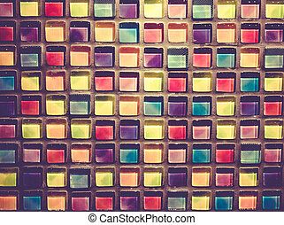 Decorative Glass Blocks in different colors abstract...