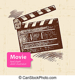 Hand drawn movie illustration Sketch background