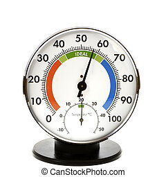 Hygrometer and Thermometer - Analog hygrometer and...