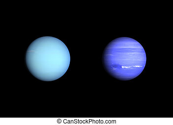 Planets Uranus and Neptune - A comparison between the Gas...