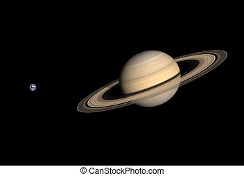 Planets Earth and Saturn - A comparison between the planets...