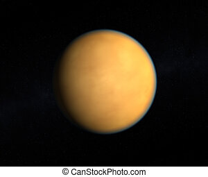 The Saturn Moon Titan - A rendering of the Saturn Moon Titan...