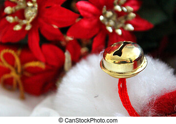 Star of Bethlehem with a gold bell. - Artificial flowers...