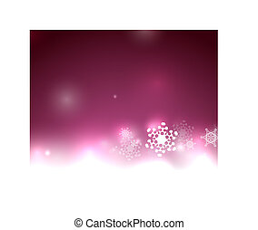 Purple vector snow Christmas background
