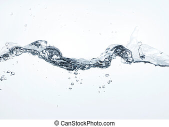 water wave on white