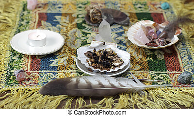 shamanic tools - mesa metaphysical altar and shamanic tools