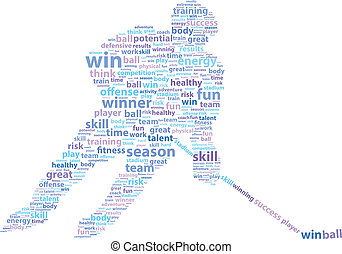 Hockey Player Sports Word Cloud Vector Illustration