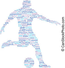 Soccer Football Player Sports Word Cloud Vector Illustration