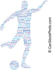 Soccer Football Player Word Cloud - Soccer Football Player...