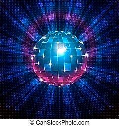 Fluorescent disco ball - An illustration of a fluorescent...
