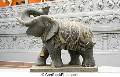 Elephant Statue at the Hindu Temple