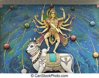Hindu God and Cow