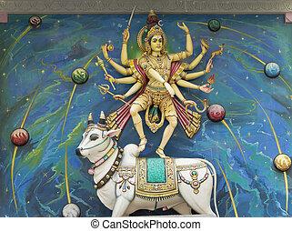 hindú, dios, vaca