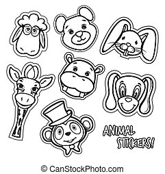 Black and white animal collection