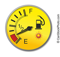 fuel gauge - illustration of an old-fashioned fuel gauge...