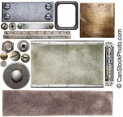 Metal details - Metal textures, backgrounds, screw heads