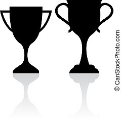 Cup icon isolated on white